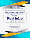 RPMS Portfolio Covers and Contents (Key Result Areas (KRAs), Objectives and Mode of Verifications)