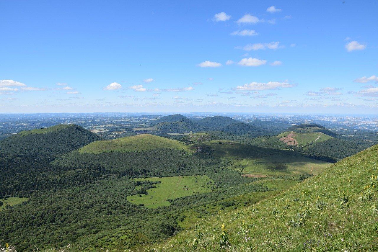 Les volcans endormis d'Auvergne