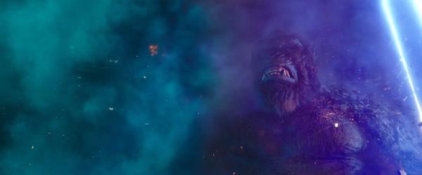 King Kong in the heat of battle in GODZILLA VS. KONG.