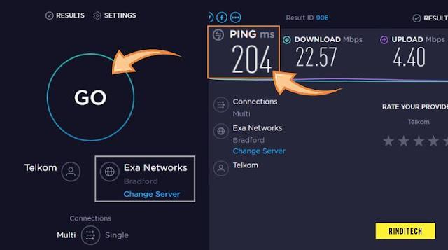 Cara Cek Kecepatan Ping Internet di Sever Tertentu