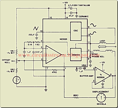 Linear Variable Differential Transformer Circuit Diagram