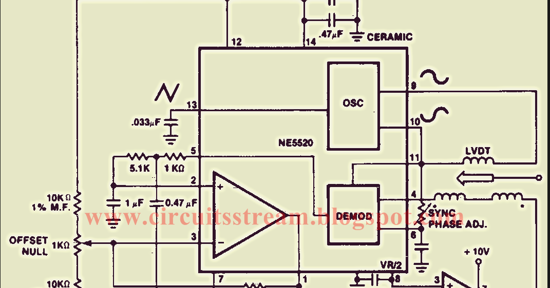Schematic Diagram: Linear Variable Differential Transformer Wiring diagram Schematic