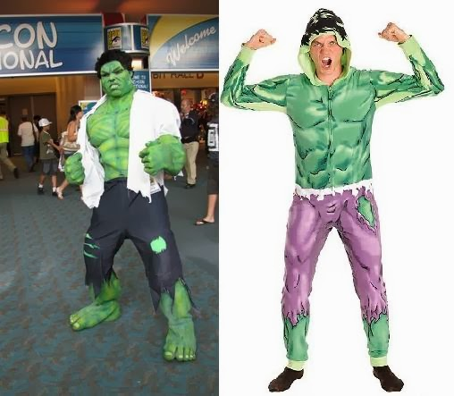 Muscle costume Hulk cosplay purple shorts