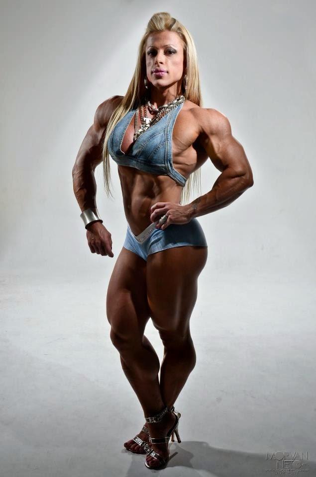 Anne Freitas is a Brazilian professional female bodybuilder