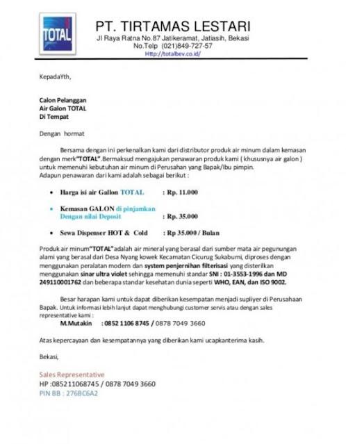 Surat Penawaran Barang Yang Baik Dan Benar (via: rumah123.com)
