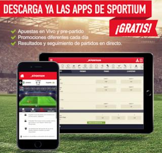 Sportium App android para Smartphones y Tablets
