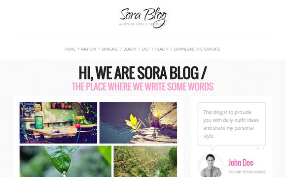 Sora Blog simple blogger template