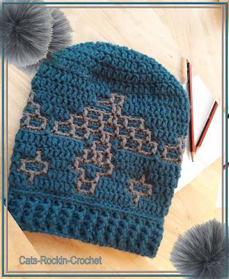 mosaic crochet hat