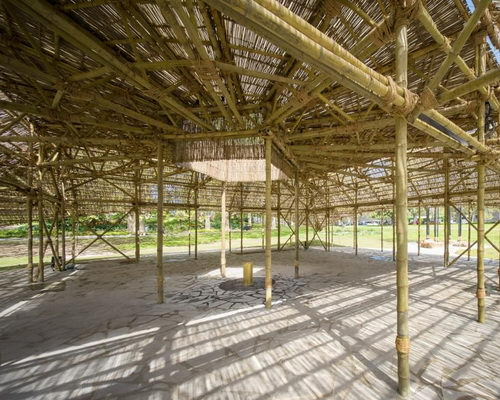www.Tinuku.com Studio Mumbai build pavilion at MPPavilion 2016 using seven kilometers bamboo
