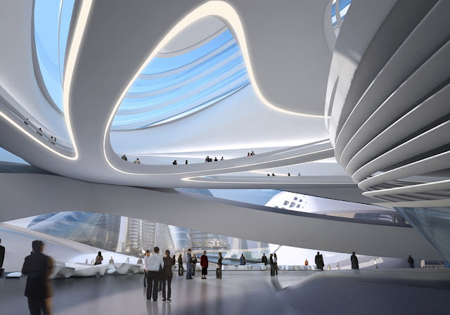 modern lobby with transparent roof
