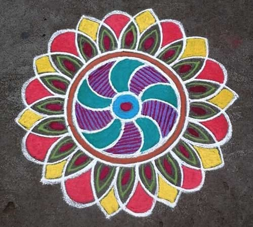 Happy New Year Best Rangoli 50