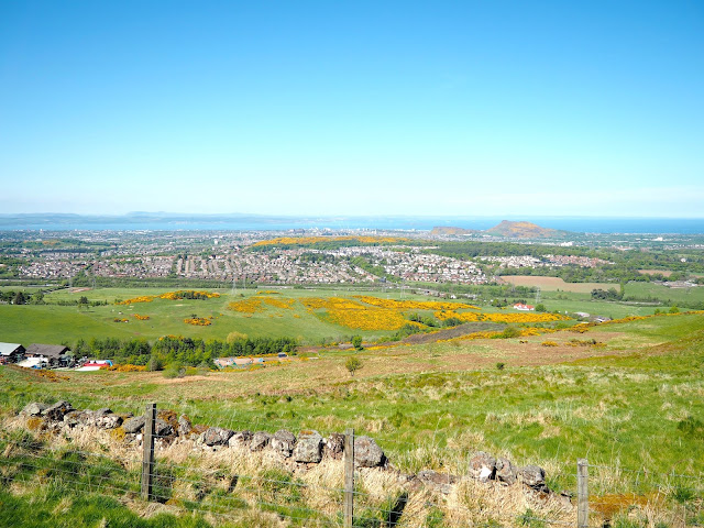 Edinburgh viewpoint from Capital View Walk, Pentland Hills