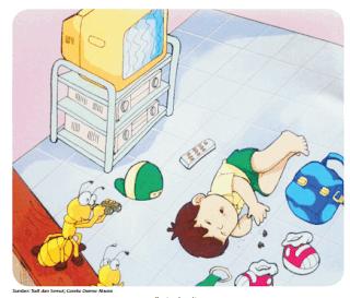 """ilustrasi cerita """"Todi dan Semut"""" www.simplenews.me"""