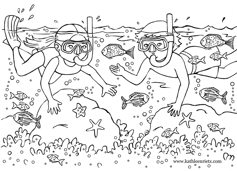 this is a coloring page i created for a coloring book i illustrated