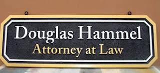 placa para advogado 3D