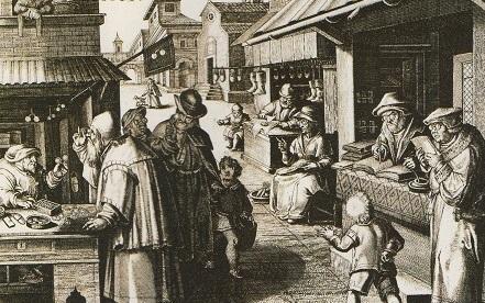 Le lunetier au Moyen Âge