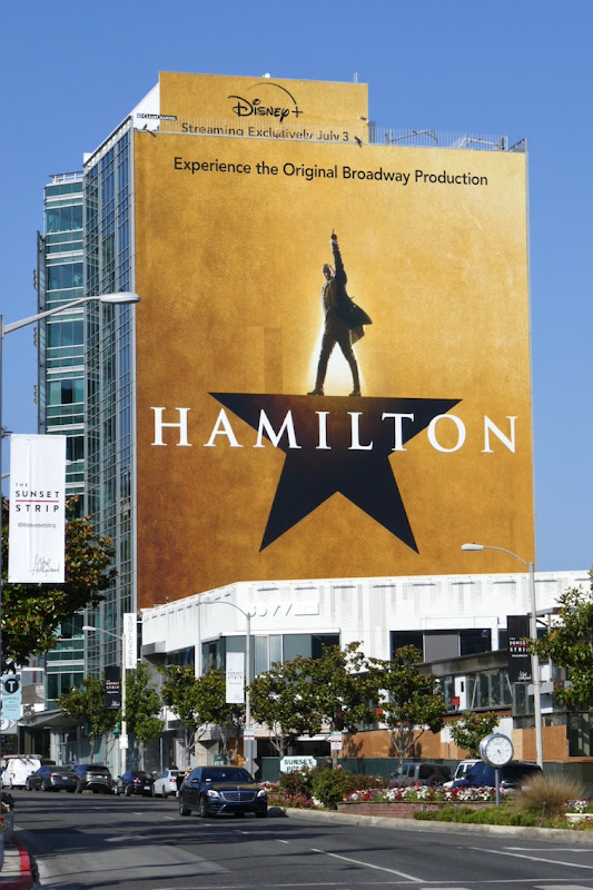 Giant Hamilton Disney movie billboard