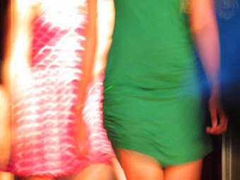 Nightlife Fashion show group in motion