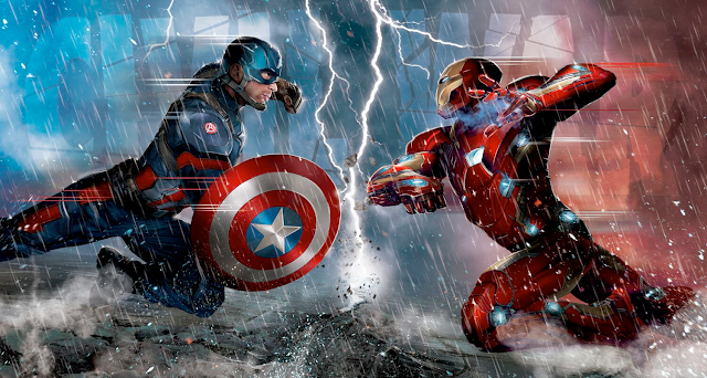 Steve Rogers vs Tony Stark în Captain: America Civil War