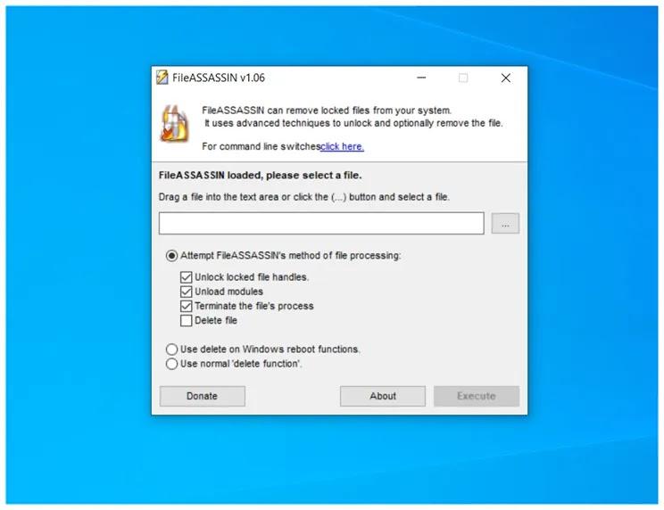 FileASSASSIN  : Διαγράψτε τα αρχεία που αρνούνται επίμονα την διαγραφή τους