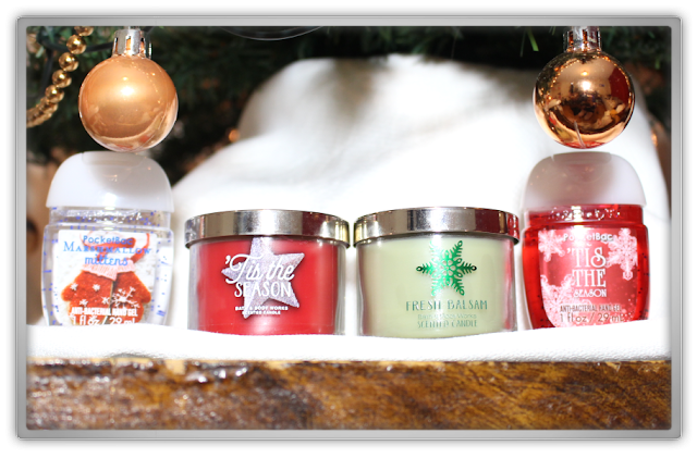Bath & Body Works Christmas xmas festive scent Candle PocketBac Sanitizing Hand Gel Haul Review beauty blog blogger