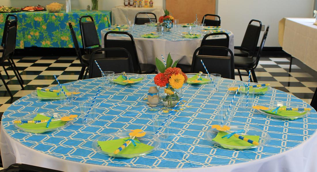 Maryland Pink And Green Duck Baby Shower