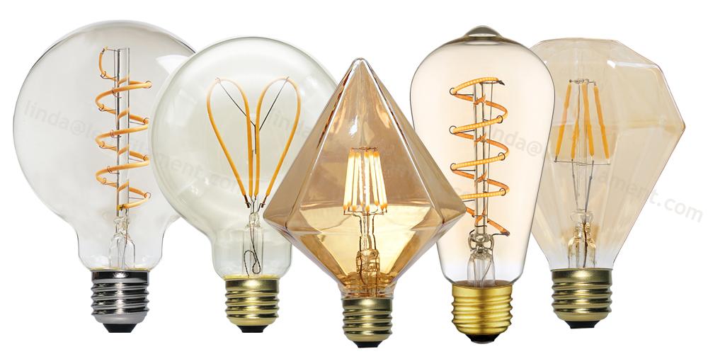 spiral filament led light bulbs technology