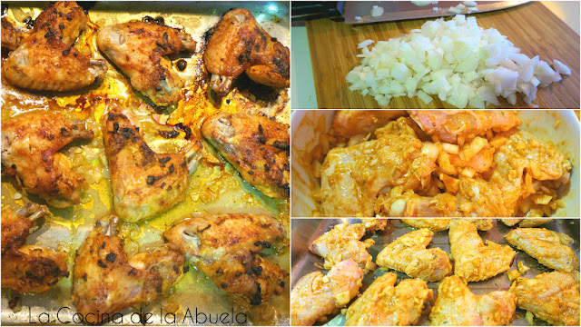 Alitas pollo curry rojo horno barbacoa recetas pasos