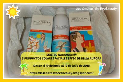 SORTEO NACIONAL!!! 3 PRODUCTOS SOLARES DE BELLA AURORA!!!!