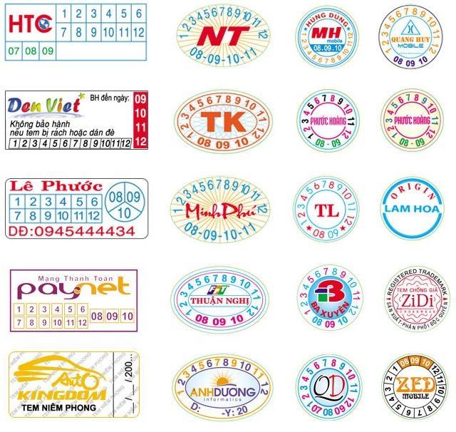 In tem bảo hành chất lượng tốt, giá rẻ tại Hà Nội, in hồng hạc