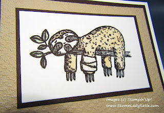 "Get Well Card made with the sloth image from Stampin'Up!'s ""Back on Your Feet"" stamp set"