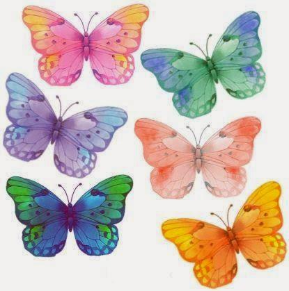 Butterflies in Watercolor Images.