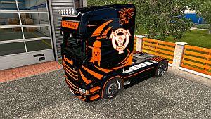 Black Viking skin for Scania RJL