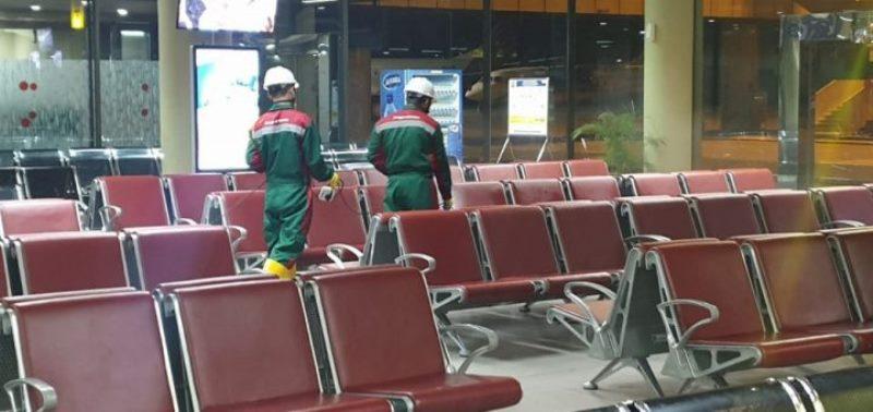 Bandara Hang Nadim Disemprot Disinfektan, Antisipasi Covid-19