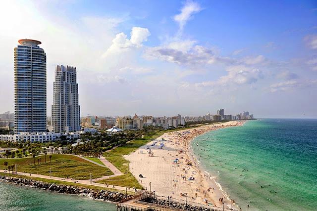 Praia Key Biscayne em Miami