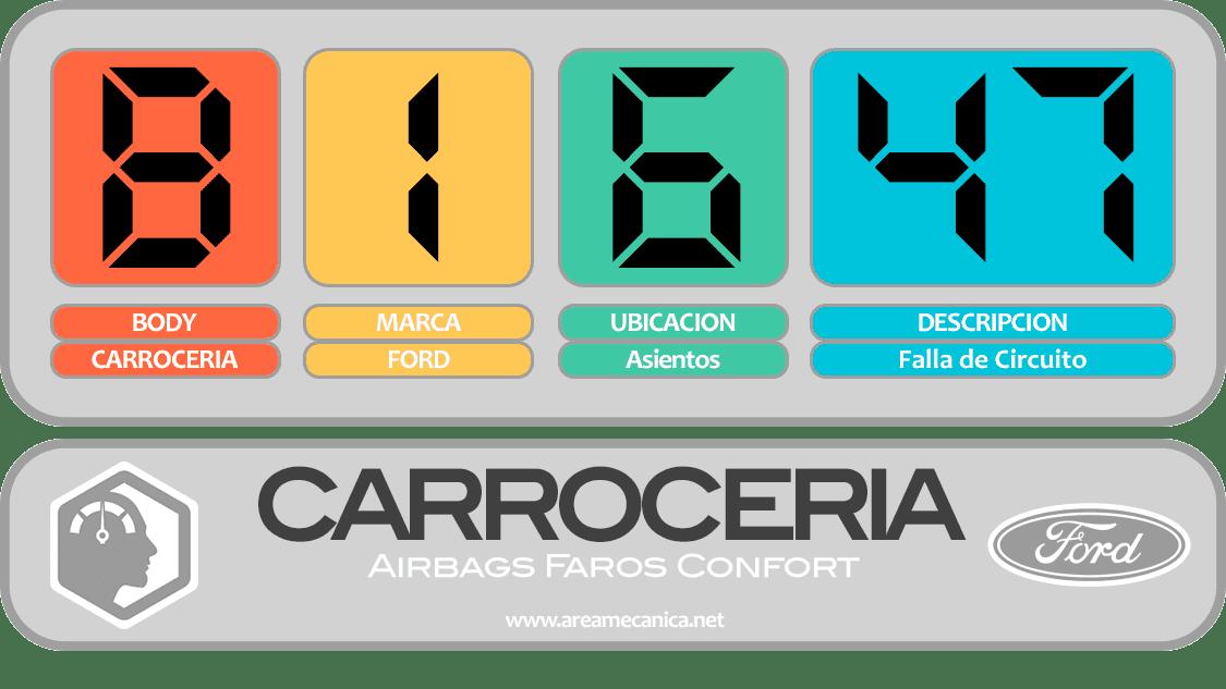 CODIGOS DE FALLA: Ford (B1600-B16FF) Carrocería | OBD2 | DTC