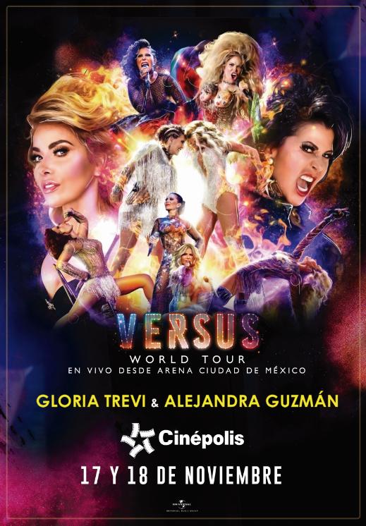 """... presentará este 17 y 18 de noviembre la gira """"Versus"""" de Alejandra  Guzmán y Gloria Trevi en 90 complejos Cinépolis en 52 ciudades del país. 008d0014405"""
