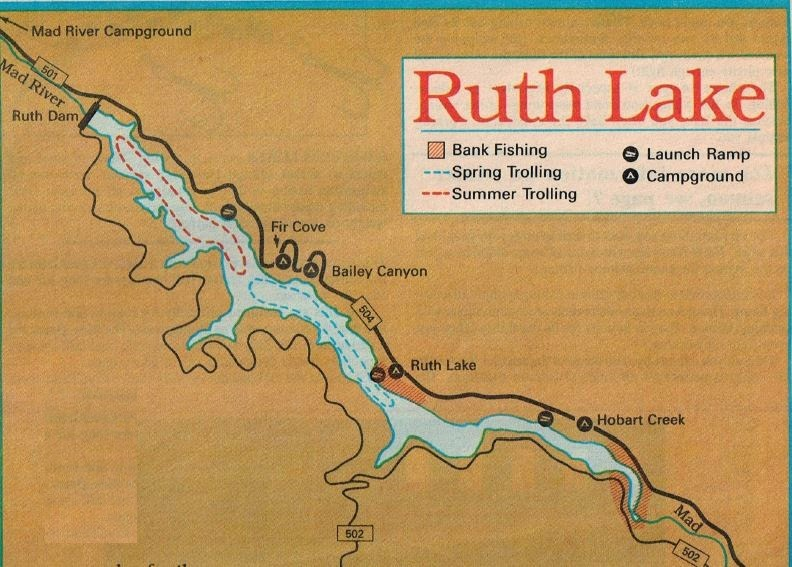 how to fish ruth lake