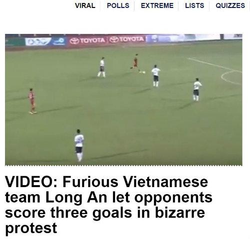 Tờ Euro Sport châm biếm sự kiện bi hài được tạo ra từ đội Long An của Việt Nam