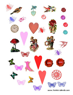 free Valentine's images motifs for diy cards scrapbooking