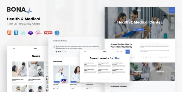 Best Health and Medical React JS Template