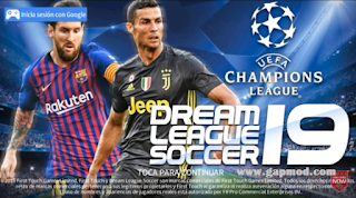 DLS 19 UEFA Mod APK OBB+DATA Full Legends Players Barcelona Download