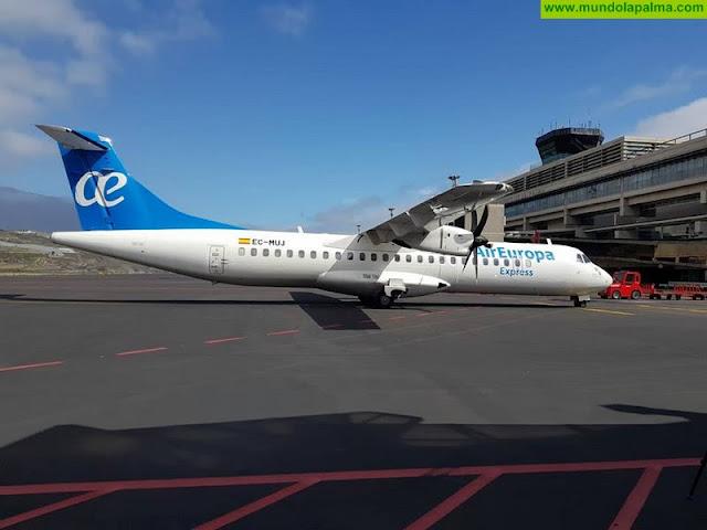 Air Europa amplía sus vuelos interislas con la ruta entre Tenerife Norte y La Palma