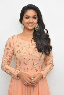 Keerthy Suresh with Cute and Awesome Lovely Chubby Cheeks Smile at Mahanati Success Meet 2