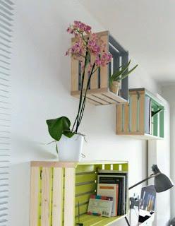Cajas de madera recicladas para muebles y decoración
