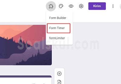 langkah 7 setting timer gform dengan form timer
