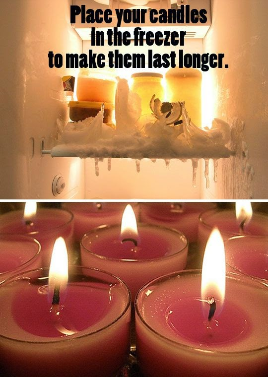 Freezing Candles to Prolong Burning and Preventing Drips