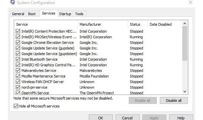 Perbaiki Opsi 'Run As Administrator' Windows 10 - Bersihkan Sistem