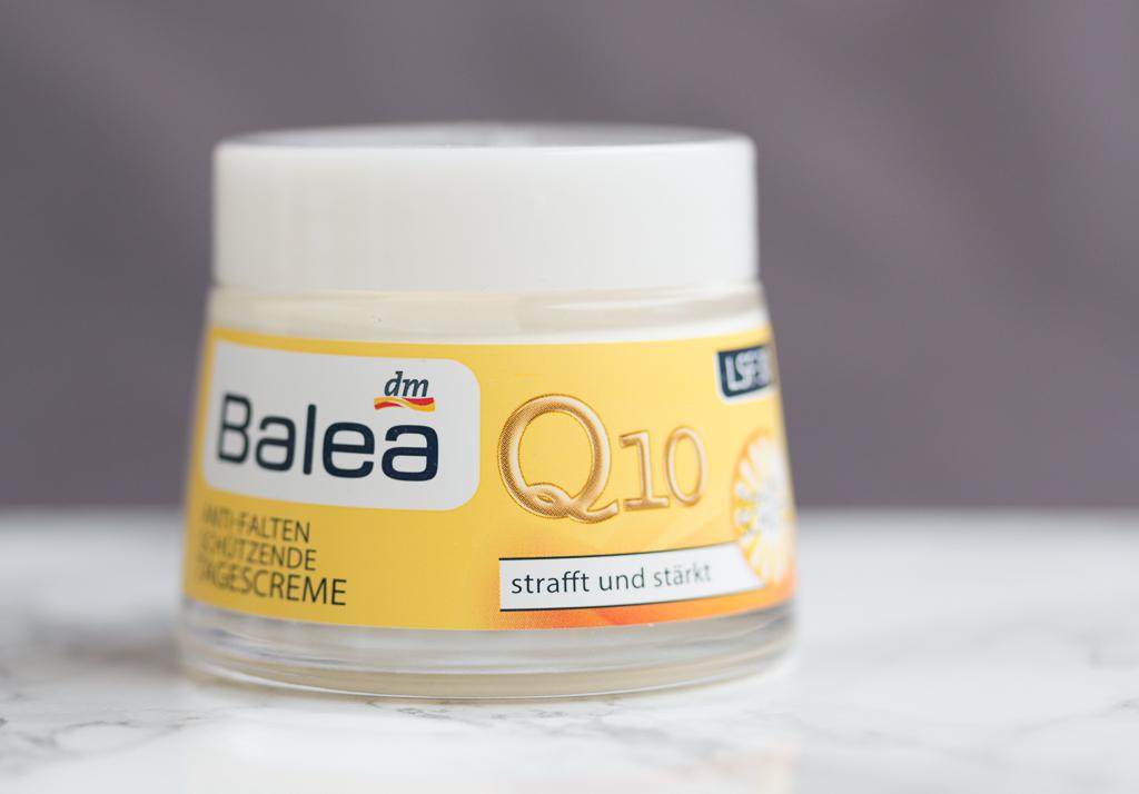 Sonnenschutzcreme chemisch Balea Q10 Anti-Falten Schuetzende Tagescreme LSF 30 Vorderansicht