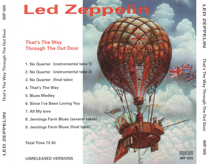 Led Zeppelin In Through The Out Door Discogs The 6 Variant